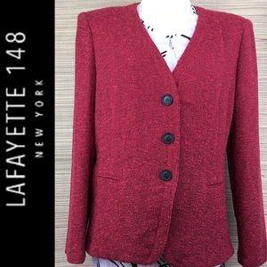 LAFAYETTE 148 New York Collarless Textured Blazer